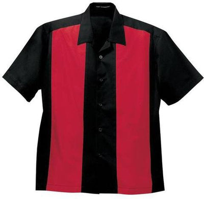 Port Authority-Retro Camp Shirt-S-Black/Red-Thread Logic