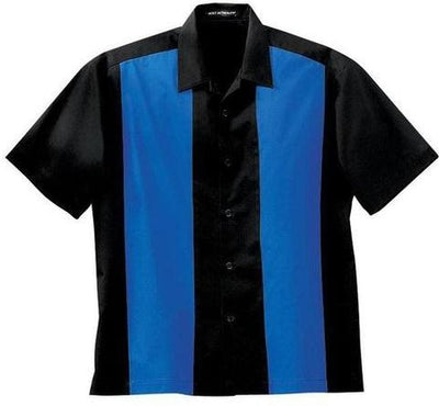 Port Authority-Retro Camp Shirt-S-Black/Royal-Thread Logic