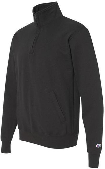 Champion-Champion Eco Fleece 1/4 Zip Pullover-S-Black-Thread Logic no-logo