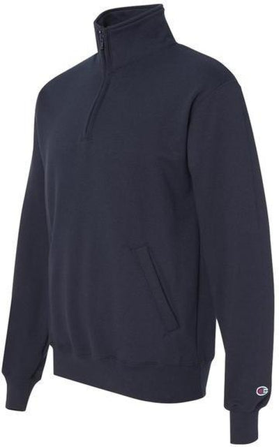 Champion-Champion Eco Fleece 1/4 Zip Pullover-S-Navy-Thread Logic no-logo