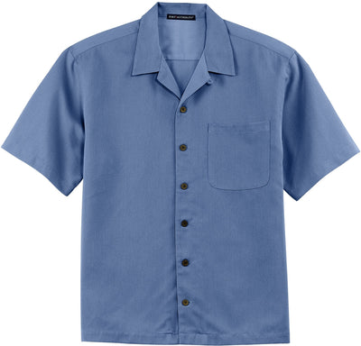 Port Authority-Easy Care Camp Shirt-S-Blue-Thread Logic