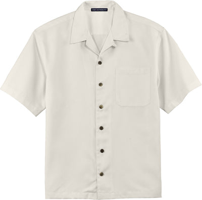 Port Authority-Easy Care Camp Shirt-S-Ivory-Thread Logic