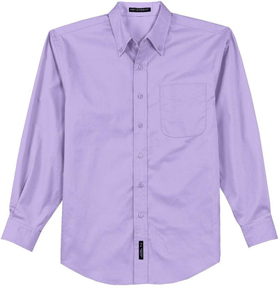 Port Authority-Long Sleeve Easy Care Dress Shirt-S-Bright Lavender-Thread Logic
