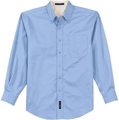 Port Authority-Long Sleeve Easy Care Dress Shirt-S-Light Blue/Light Stone-Thread Logic