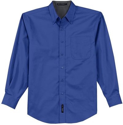 Port Authority-Long Sleeve Easy Care Dress Shirt-S-Royal/Navy-Thread Logic