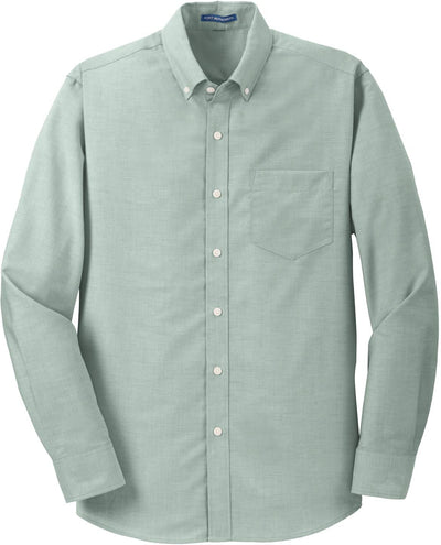 Port Authority-SuperPro Oxford Shirt-S-Green-Thread Logic
