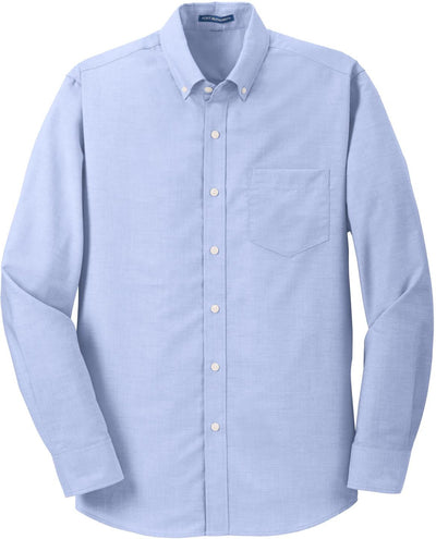 Port Authority-SuperPro Oxford Shirt-S-Oxford Blue-Thread Logic