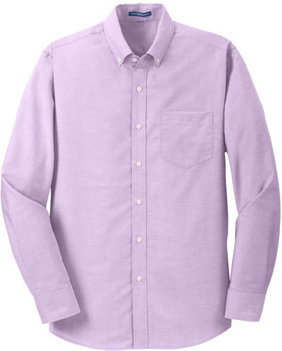 Port Authority-SuperPro Oxford Shirt-S-Soft Purple-Thread Logic