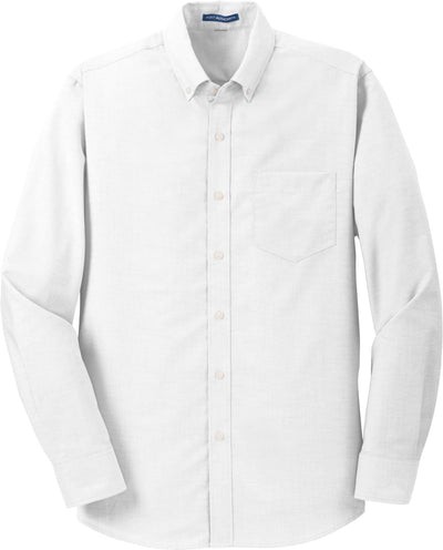 Port Authority-SuperPro Oxford Shirt-S-White-Thread Logic