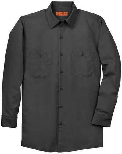 Red Kap-Red Kap Long Sleeve Industrial Work Shirt-S-Charcoal-Thread Logic
