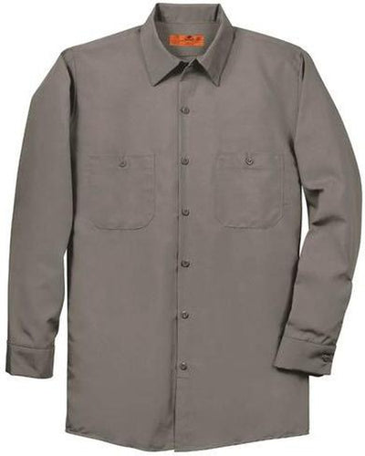 Red Kap-Red Kap Long Sleeve Industrial Work Shirt-S-Grey-Thread Logic