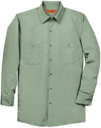 Red Kap-Red Kap Long Sleeve Industrial Work Shirt-S-Light Green-Thread Logic