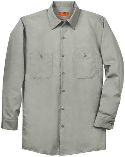 Red Kap-Red Kap Long Sleeve Industrial Work Shirt-S-Light Grey-Thread Logic