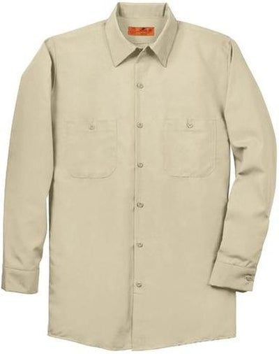 Red Kap-Red Kap Long Sleeve Industrial Work Shirt-S-Light Tan-Thread Logic