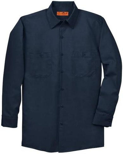 Red Kap-Red Kap Long Sleeve Industrial Work Shirt-S-Navy-Thread Logic