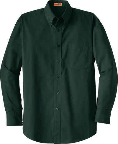 Cornerstone-Long Sleeve SuperPro Twill Shirt-S-Dark Green-Thread Logic