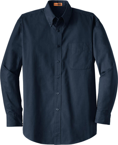 Cornerstone-Long Sleeve SuperPro Twill Shirt-S-Navy-Thread Logic