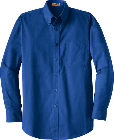 Cornerstone-Long Sleeve SuperPro Twill Shirt-S-Royal-Thread Logic
