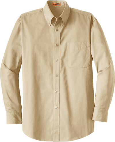 Cornerstone-Long Sleeve SuperPro Twill Shirt-S-Stone-Thread Logic