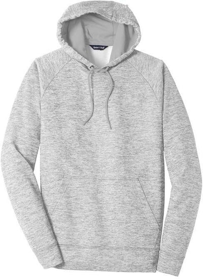 Sport Tek-PosiCharge Electric Heather Fleece Hooded Pullover-S-Silver Electric-Thread Logic