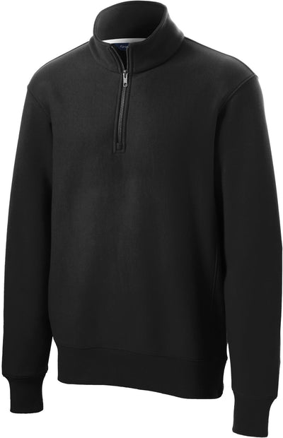 Sport Tek-Super Heavyweight 1/4 Zip Pullover-S-Black-Thread Logic
