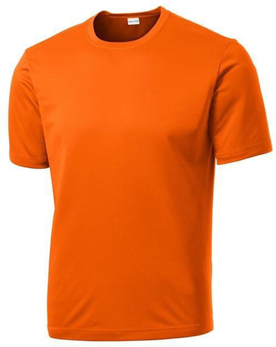 Sport Tek-Tall PosiCharge Competitor Tee-LT-Deep Orange-Thread Logic