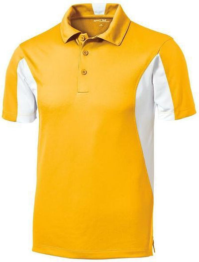Sport Tek-Side Blocked Micropique Polo Shirt-S-Gold-Thread Logic
