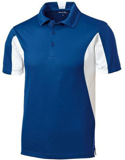 Sport Tek-Side Blocked Micropique Polo Shirt-S-Royal-Thread Logic