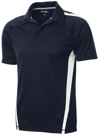 Sport Tek-Micro-Mesh Colorblock Polo-S-True Navy/White-Thread Logic