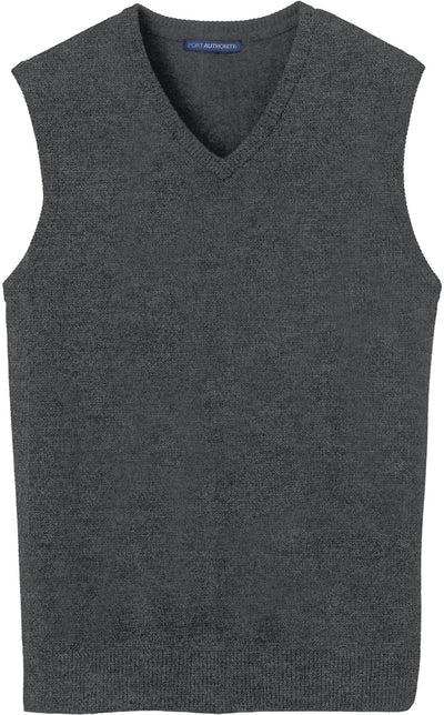 Port Authority-Sweater Vest-S-Charcoal Heather-Thread Logic