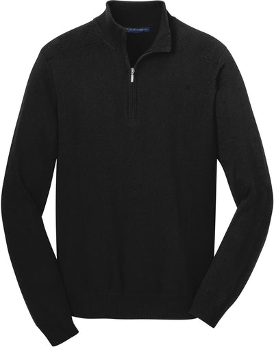 Port Authority-1/2-Zip Sweater-S-Black-Thread Logic