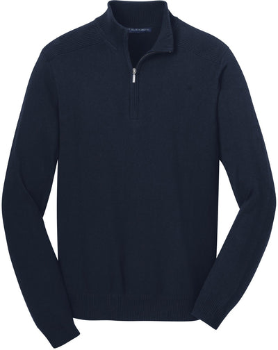 Port Authority-1/2-Zip Sweater-S-Navy-Thread Logic