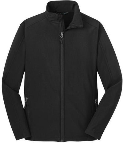 Port Authority-Tall Core Soft Shell Jacket-LT-Black-Thread Logic
