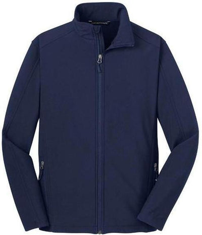 Port Authority-Tall Core Soft Shell Jacket-LT-Dress Blue Navy-Thread Logic