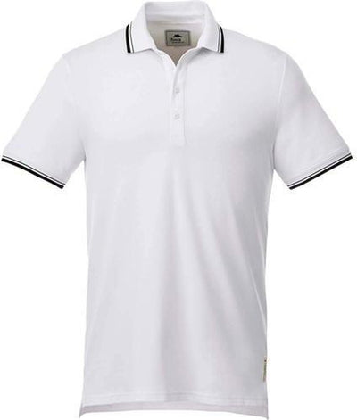 Roots73 LIMESTONE Polo-S-White/Black-Thread Logic