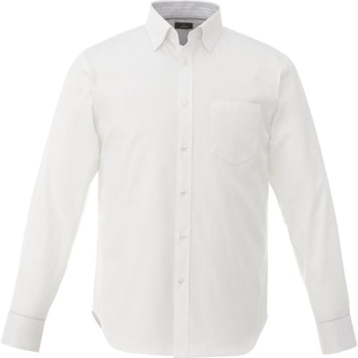 Elevate-Cromwell Long Sleeve Dress Shirt-S-White-Thread Logic