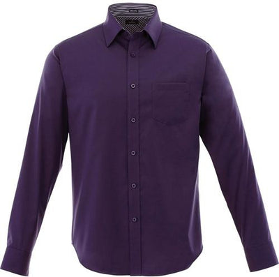 Elevate-Cromwell Long Sleeve Dress Shirt-S-Dark Plum-Thread Logic
