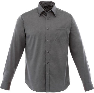 Elevate-Cromwell Long Sleeve Dress Shirt-S-Grey Storm-Thread Logic