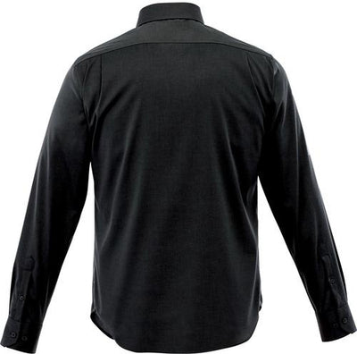 Elevate-Cromwell Long Sleeve Dress Shirt-S-Black-Thread Logic no-logo