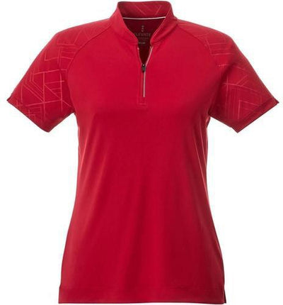 Elevate-Ladies HAKONE Short Sleeve Polo-S-Team Red-Thread Logic