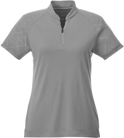 Elevate-Ladies HAKONE Short Sleeve Polo-S-Quarry-Thread Logic