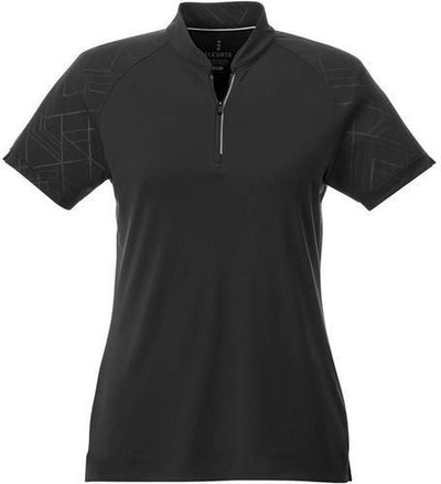Elevate-Ladies HAKONE Short Sleeve Polo-S-Black-Thread Logic