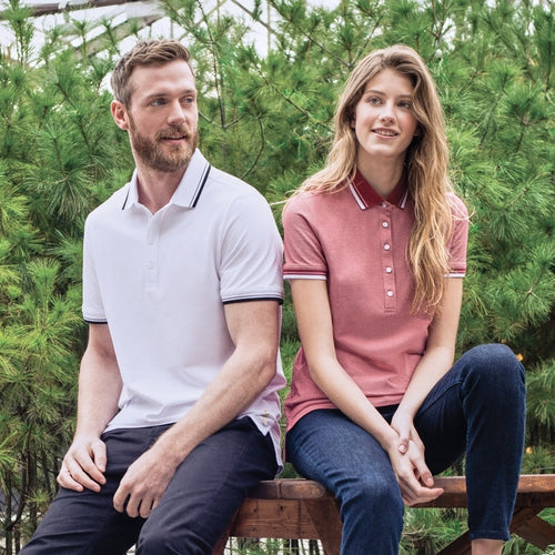 Ladies Roots73 LIMESTONE Polo-Thread Logic no-logo