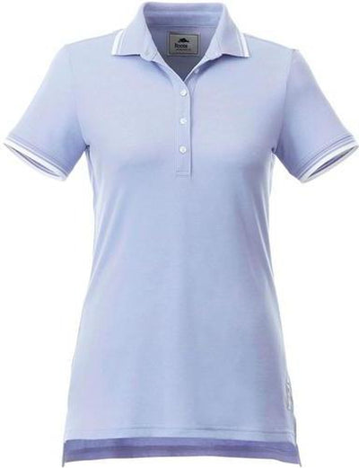 Ladies Roots73 LIMESTONE Polo-XS-Solace Blue/White-Thread Logic