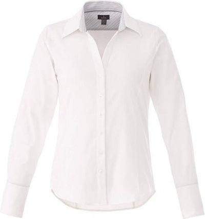 Elevate-Ladies Cromwell Long Sleeve Dress Shirt-XS-White-Thread Logic
