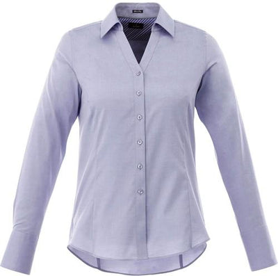 Elevate-Ladies Cromwell Long Sleeve Dress Shirt-XS-China Blue-Thread Logic