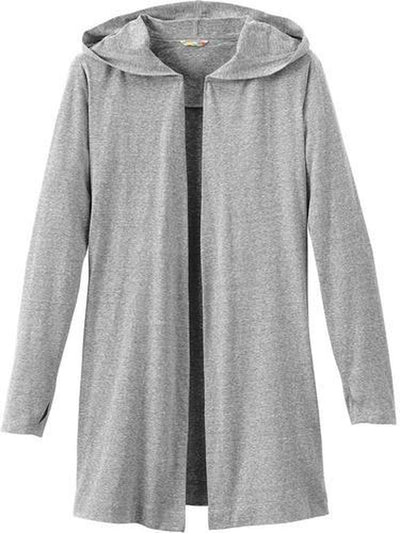 Elevate-Ladies ASHLAND Knit Hooded Cardigan-S-Heather Grey-Thread Logic