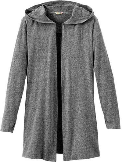 Elevate-Ladies ASHLAND Knit Hooded Cardigan-S-Heather Dark Charcoal-Thread Logic