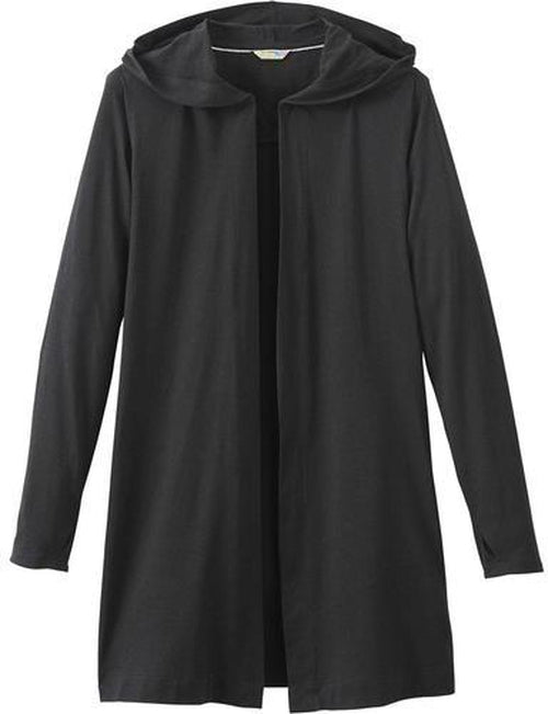 Elevate-Ladies ASHLAND Knit Hooded Cardigan-S-Black-Thread Logic no-logo