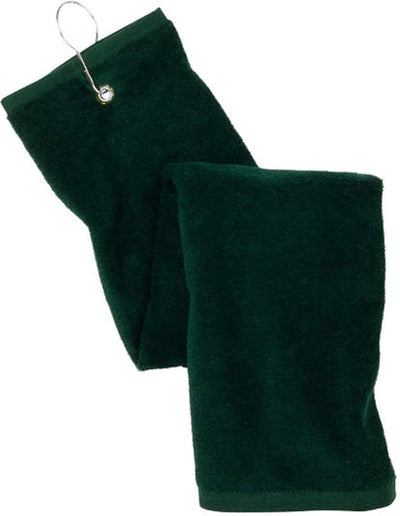 Port Authority-Grommeted Trifold Golf Towel-Hunter-Thread Logic